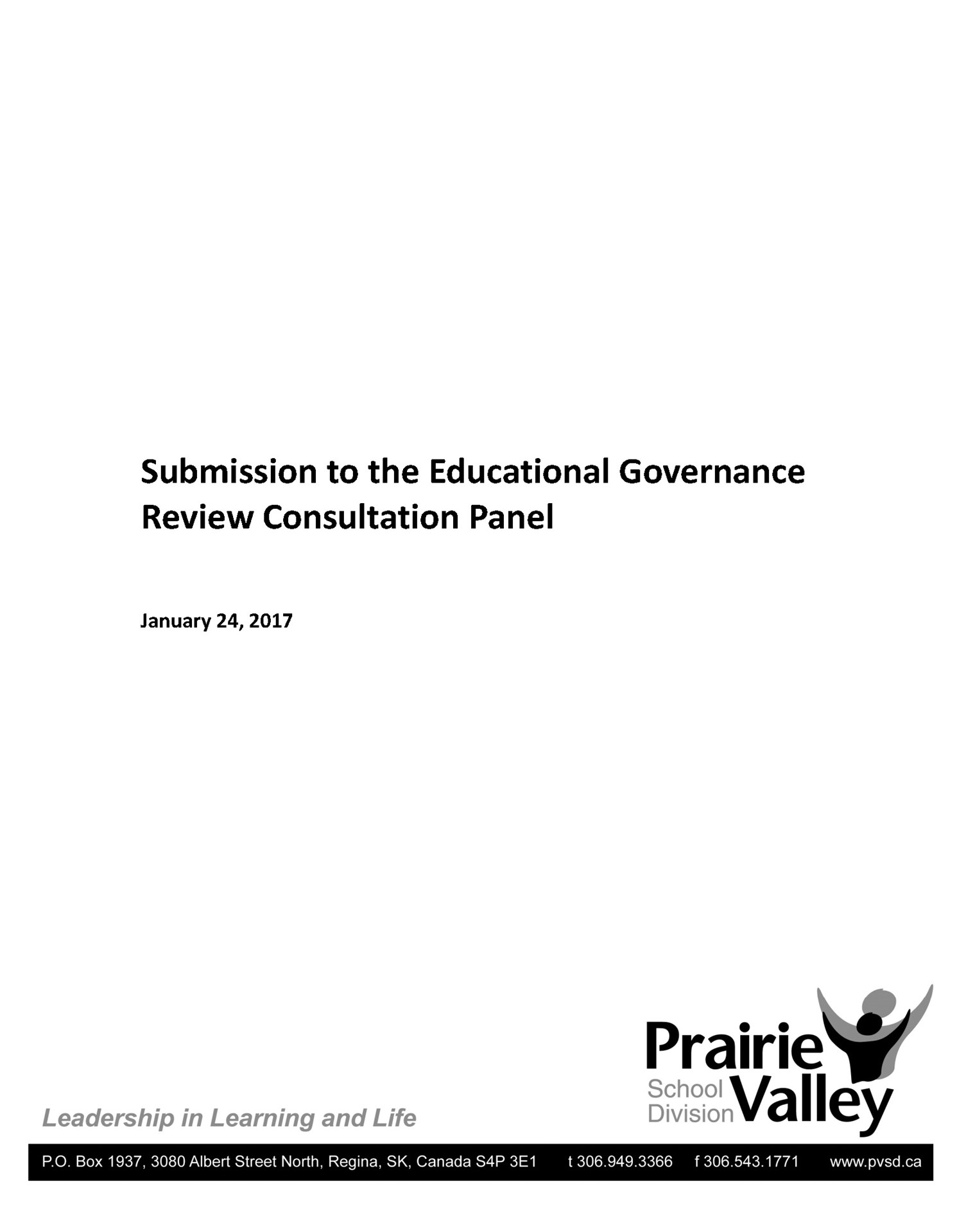 Educational Governance Review Submission