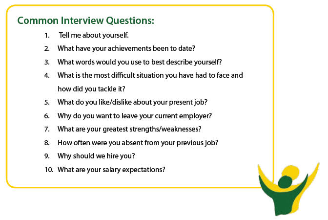 Common job interview questions stage 3 common interview