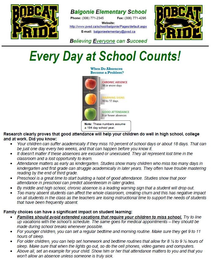 Every Day at School Counts!