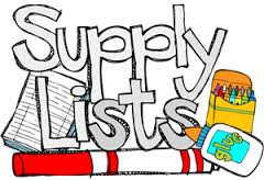 Welcome Back to School - Get Your School Supply Lists Here!