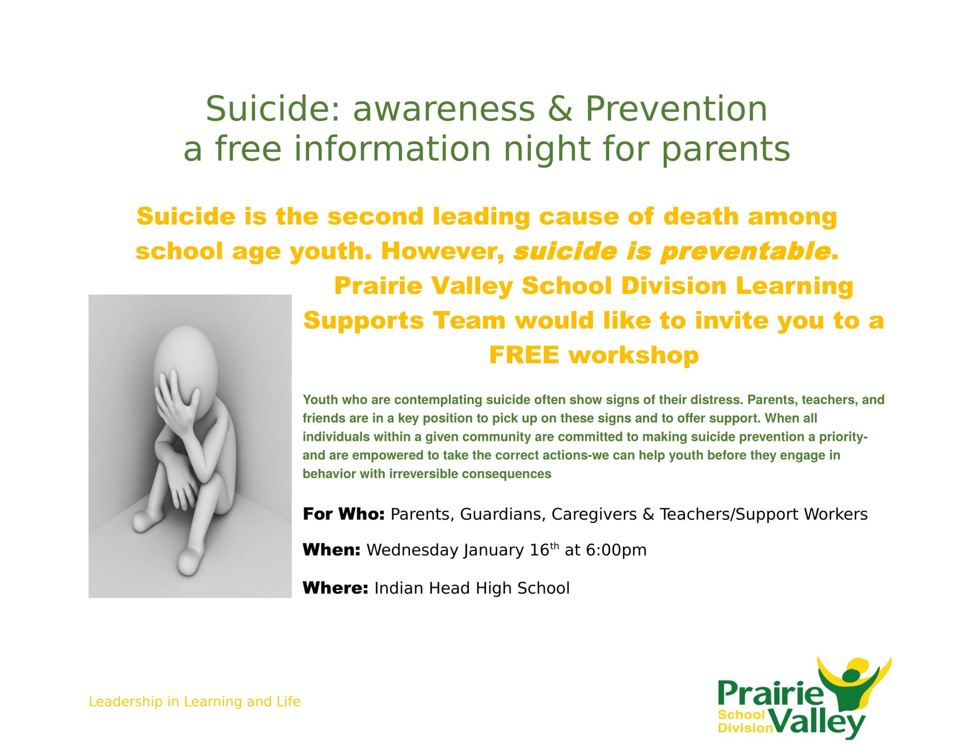 Suicide: Awareness and Prevention