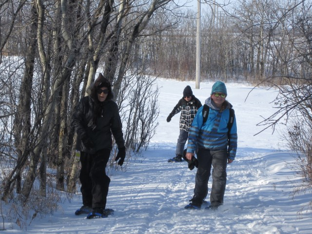 Snow shoeing in North Valley
