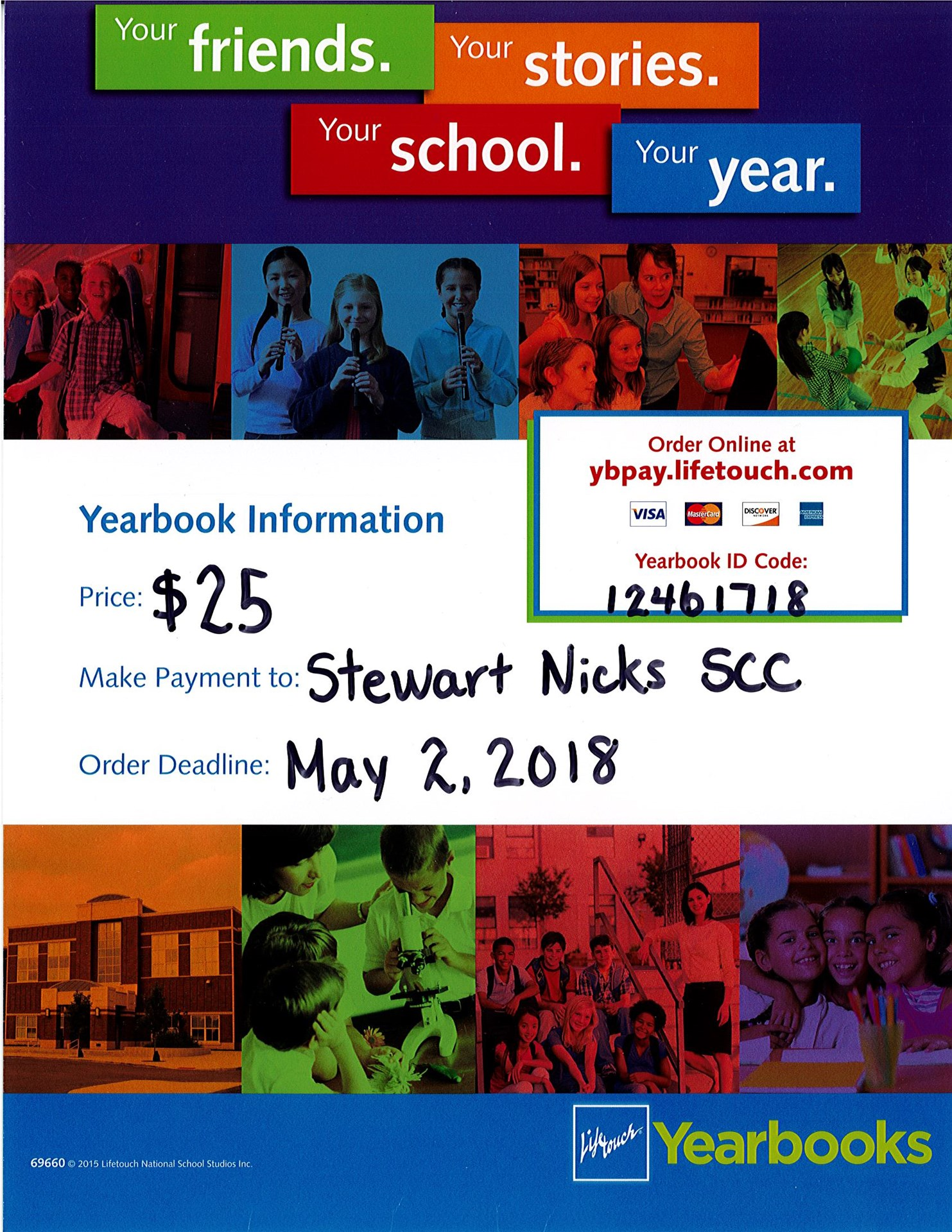 Yearbook orders are due May 2