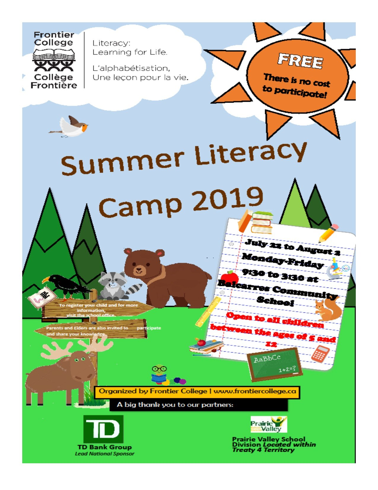 Summer Literacy Camp 2019