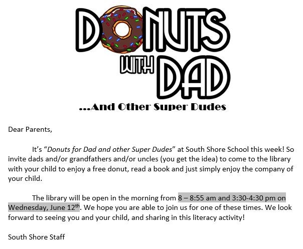 Donuts for Dad's and Other Super Dudes